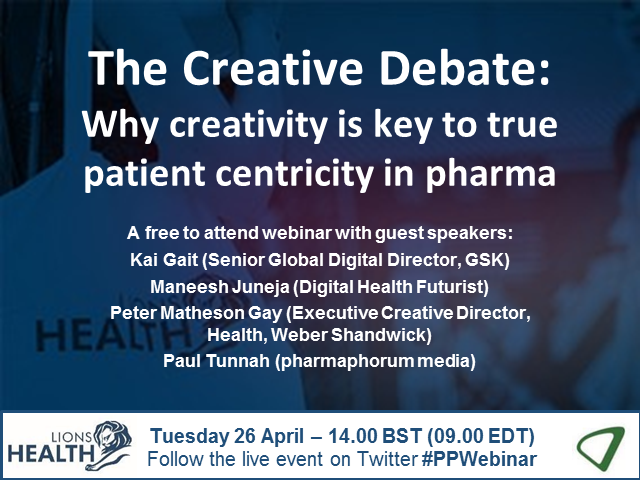 The Creative Debate: Why creativity is key to true patient centricity in pharma