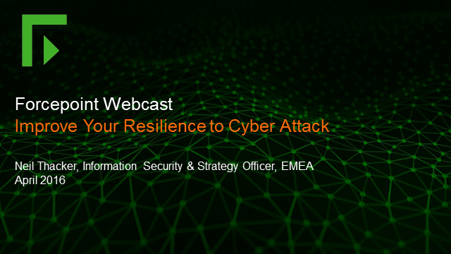 Improve Your Resilience To Cyber Attack
