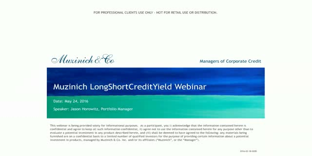 Muzinich LongShortCreditYield Fund Update