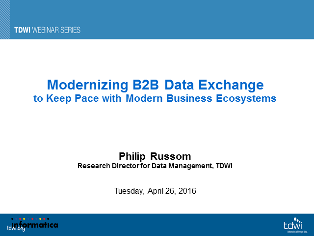 Modernizing B2B Data Exchange to Keep Pace with Modern Business Ecosystems