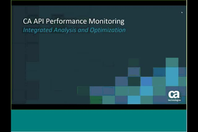 Demo – Introducing CA API Performance Monitoring