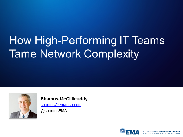 How High-Performing IT Teams Tame Network Complexity