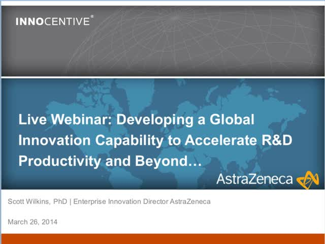 Astra Zeneca | Developing a Global Innovation Capability to Accelerate R&D Produ