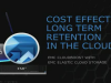 Cost-effective alternative for long term retention data backup