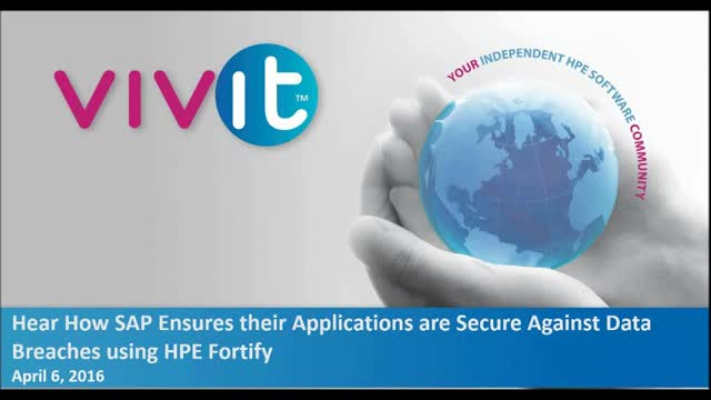 SAP ensures applications are secure against data breaches using HPE Fortify