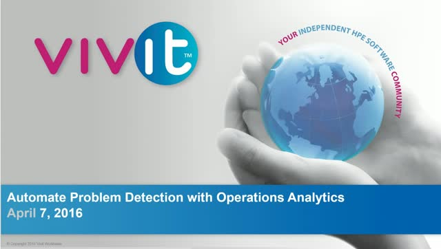 Automate Problem Detection with Operations Analytics