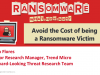 Avoid the Cost of being a Ransomware Victim