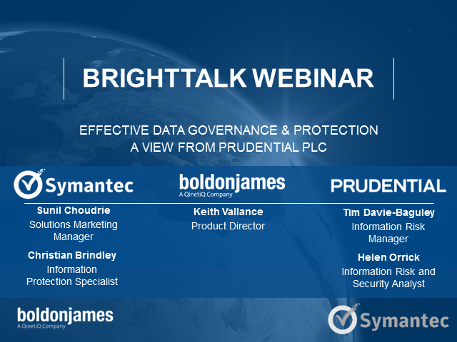 Driving Effective Data Governance & Protection – a view from Prudential Plc