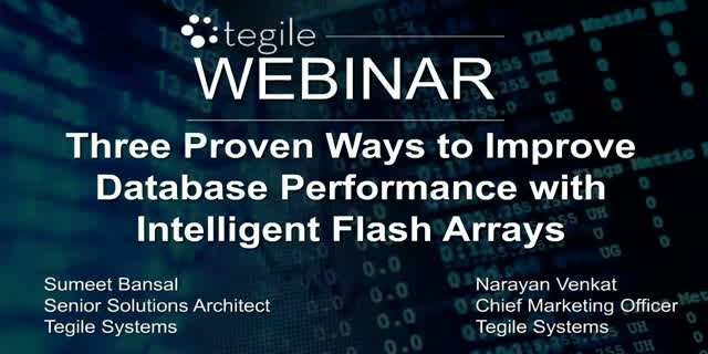 Three Proven Ways to Improve Database Performance with Intelligent Flash Arrays