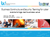 BCM & Security: Teaming for cyber events brings real business value
