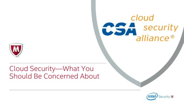 Cloud Security: What You Should Be Concerned About