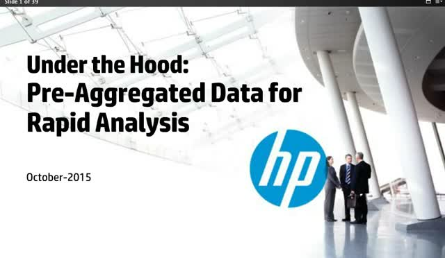 Under the Hood: Preaggregating Data for Rapid Analysis