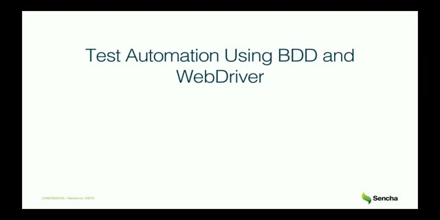 SNC - Leverage the Power of Behavior Driven Development Using WebDriver