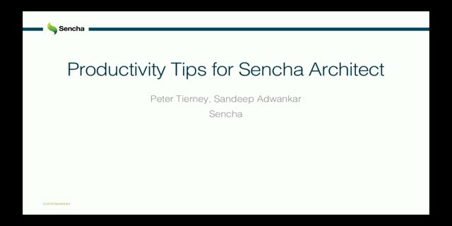 SNC - Productivity Tips for Sencha Architect