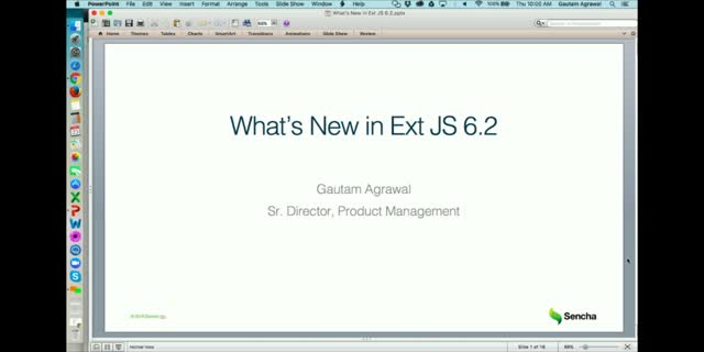 SNC - What's New in Ext JS 6.2