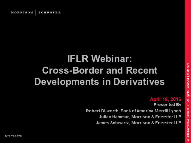 Cross-Border and Recent Developments in Derivatives