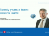 Twenty years a team: Lessons learnt