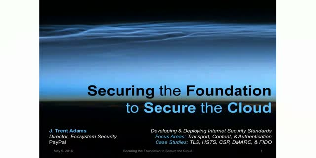 Securing the Foundation to Secure the Cloud