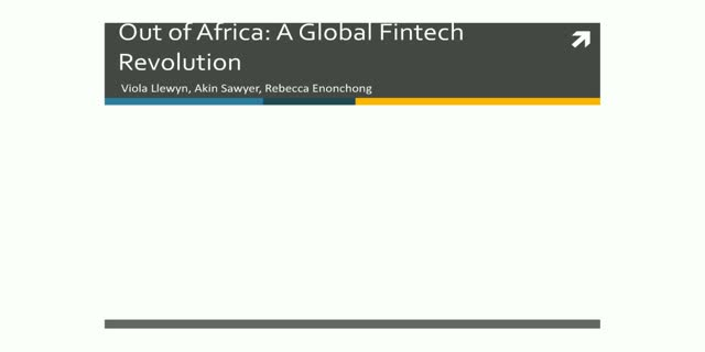 Out of Africa: A Global Fintech Revolution
