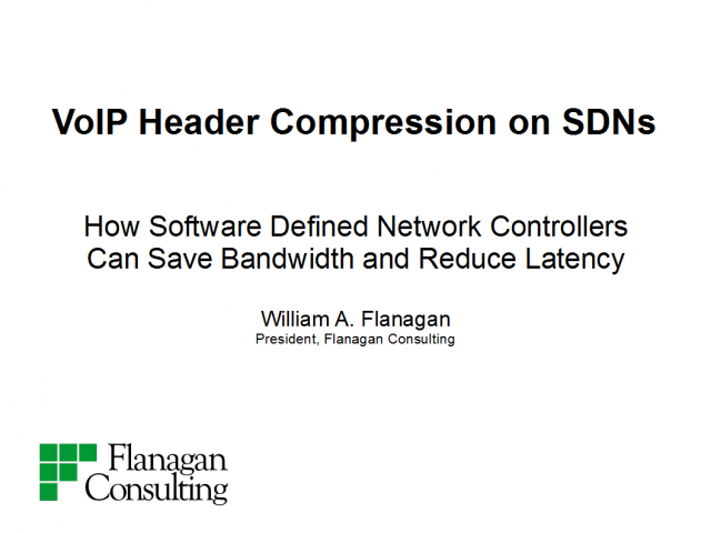 VoIP Header Compression on SDNs
