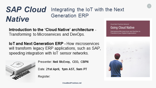 SAP Cloud Native: Integrating the IoT With the Next Generation ERP