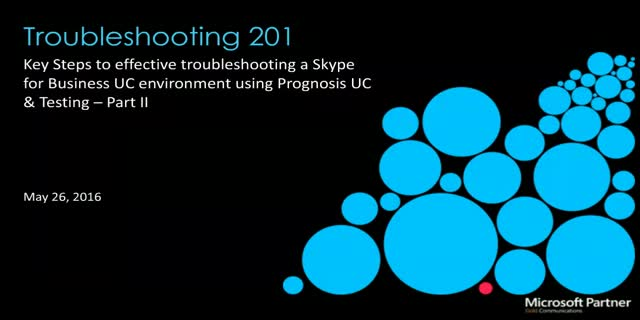 Skype for Business: Troubleshooting 201 (US Timezone)