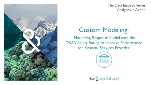 Analytics in Action - Viability Improves Financial Services Custom Model