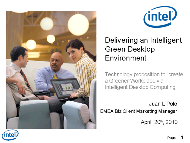 Delivering an Intelligent Green Desktop Environment