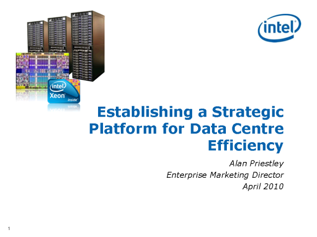 Establishing a Strategic Platform for Data Centre Efficiency