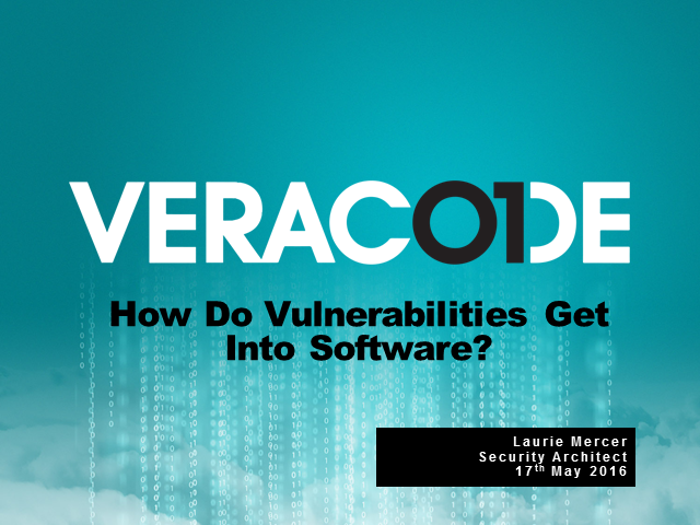 How do vulnerabilities get into software?