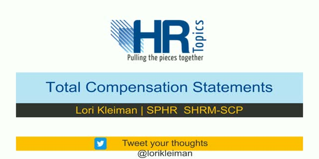 What's it really worth?  Total Compensation statement that communicate value