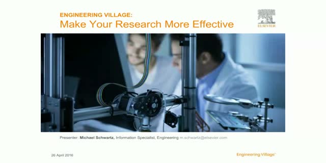 Engineering Village: Make your research more effective