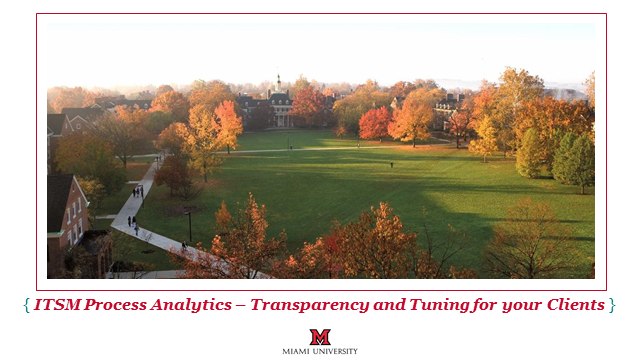 Higher Ed CoI: ITSM Process Analytics – Transparency and Tuning for your Clients