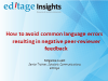 How to avoid common language errors resulting in negative peer-reviewer feedback