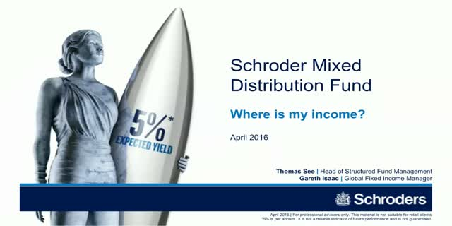 Schroder Mixed Distribution Fund*