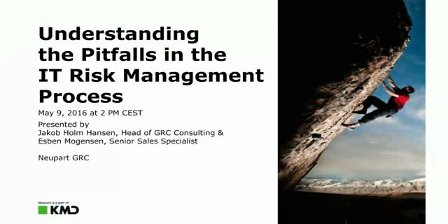 Understanding the Pitfalls in the IT Risk  Management Process