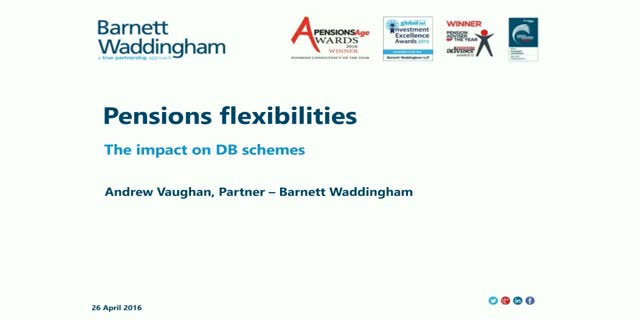 Pensions flexibilities, the impact on DB schemes