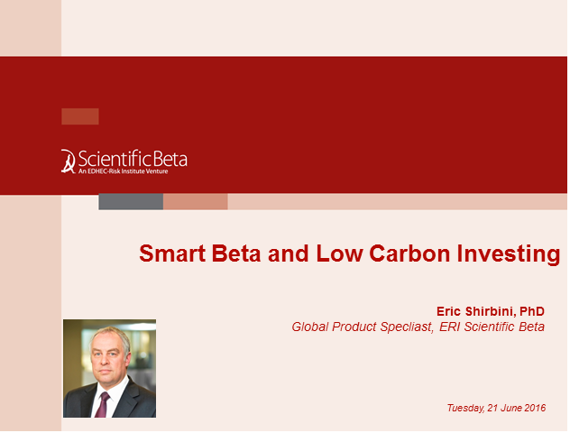 Smart Beta & Low Carbon