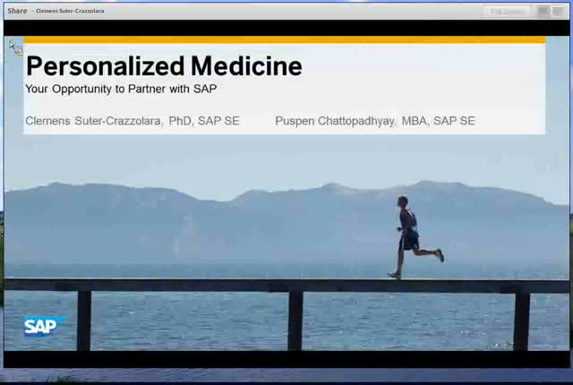 Personalized Medicine - Your Opportunity to Partner with SAP
