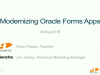 Modernize Oracle Forms Apps with New Sencha Service