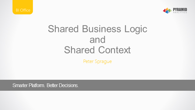 Analytic Platforms and the Value of Shared Context and Business Logic