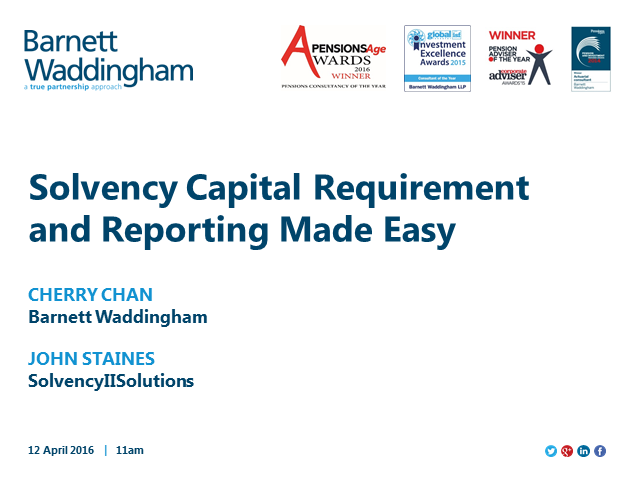 Solvency II SCR and Reporting tool made easy