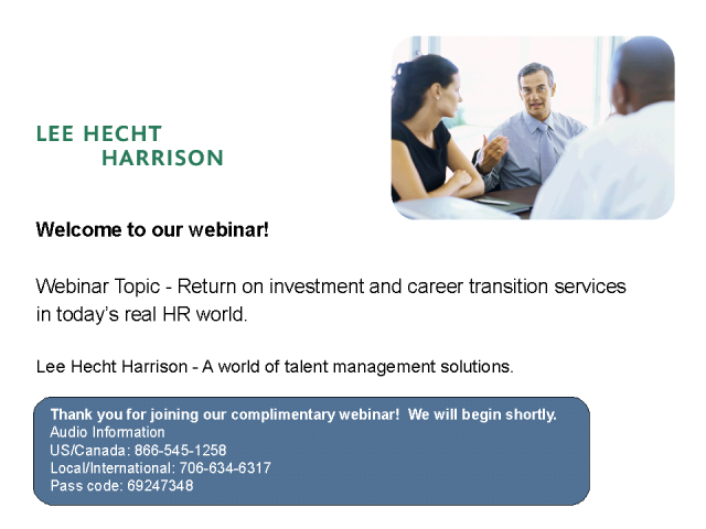 Return on investment and career transition services
