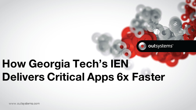 How Georgia Tech Delivers Critical Apps 6x Faster