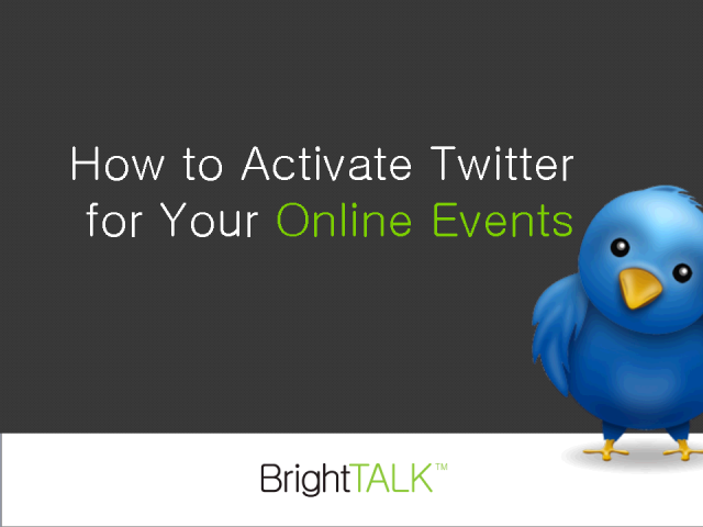 How to Activate Twitter for Your Online Events