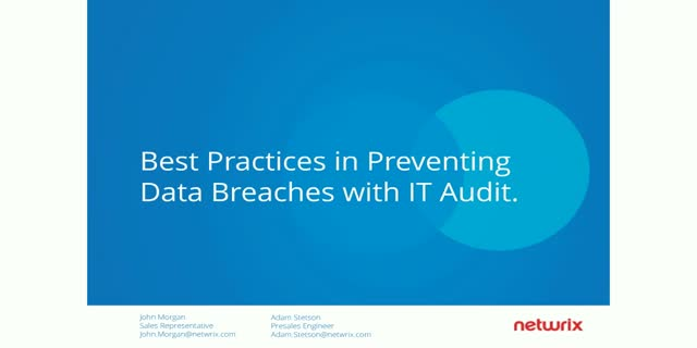 Best Practices in Preventing Data Breaches with IT Audit