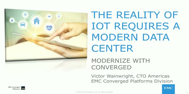 The Reality of IoT requires a Modern Data Center