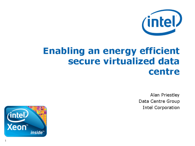 Enabling an Energy Efficient Secure Virtualized Data Centre