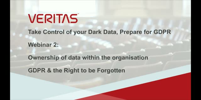 Ownership of data within the organisation: GDPR & the right to be forgotten