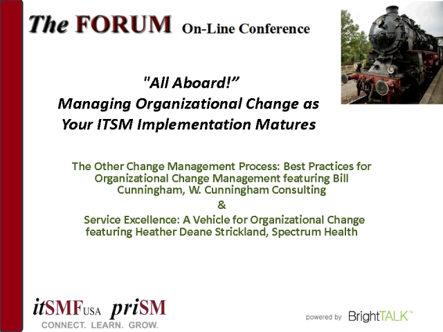 All Aboard: Managing Organizational Change as You Mature